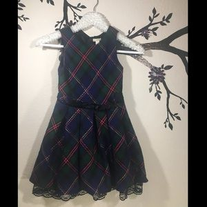 Plaid formal dress